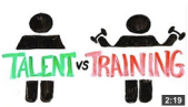 Talent vs training image