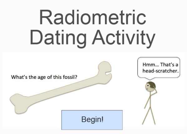 Radiometric dating activity screen capture