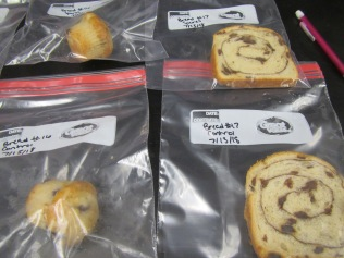 Mini-blueberry muffins and cinnamon swirl bread. No mold! Photo by M. Hoefnagels.